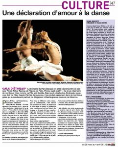 Article La Semaine du Pays Basque AC Opera Ballet Production