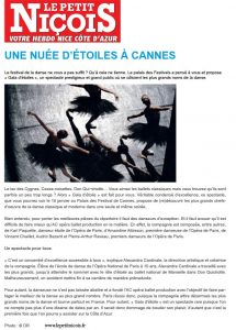 Article Le Petit Nicois 2014 AC Opera Ballet Production