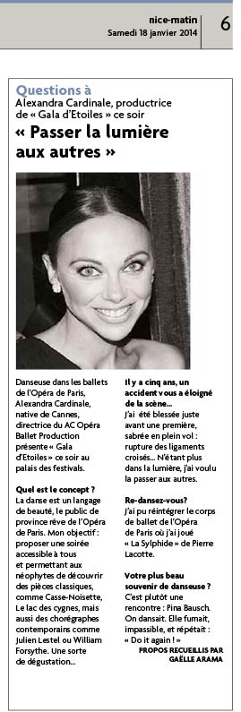 Article Nice Matin 2014 AC Opera Ballet Production
