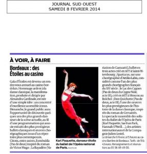 Article Sud Ouest 2014 AC Opera Ballet Production