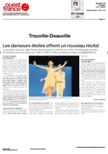 Article Ouest France Octobre 2014 AC Opera Ballet Production