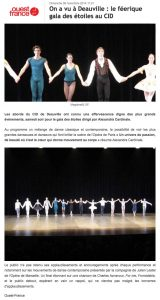 Article Ouest France Novembre 2014 AC Opera Ballet Production