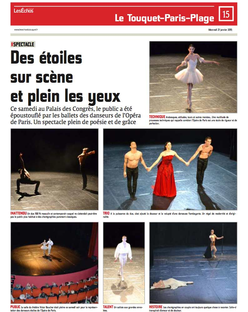 Article Les Echos du Touquet AC Opera Ballet Production